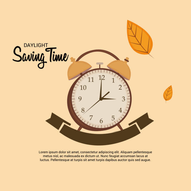 Daylight Saving Time(Spring Forward). Vector illustration of a Banner for Change your clocks message for Daylight Saving Time(Spring Forward). daylight savings stock illustrations