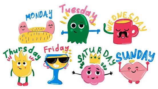 Days of the week sticker