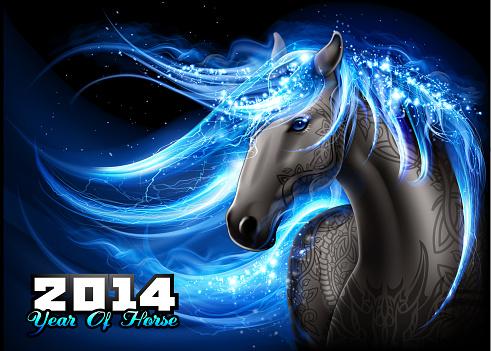 Dazzling blue horse