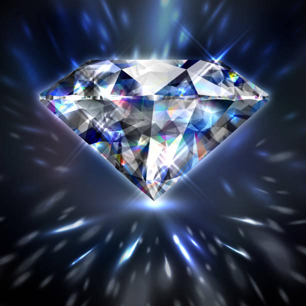Dazzling shiny colorful diamond Dazzling shiny colorful diamond background - eps10 diamond shaped stock illustrations