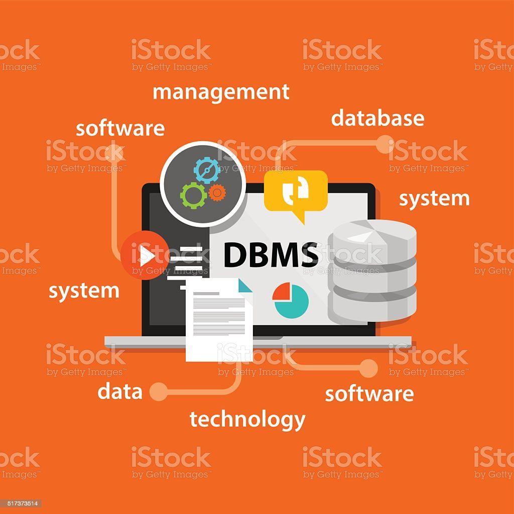 Dbms Database Management System Computer Data Symbol Vector