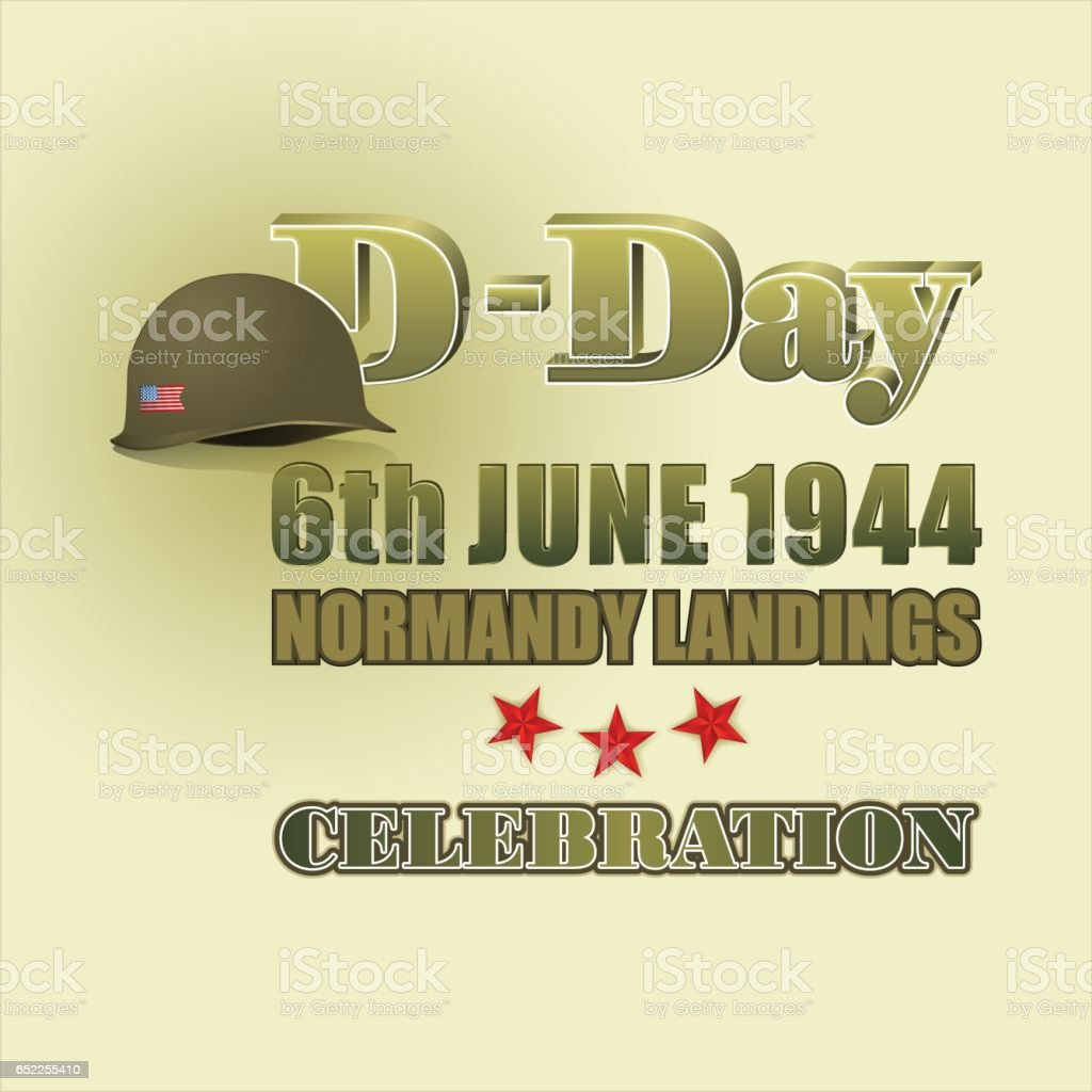 D-Day celebration vector art illustration