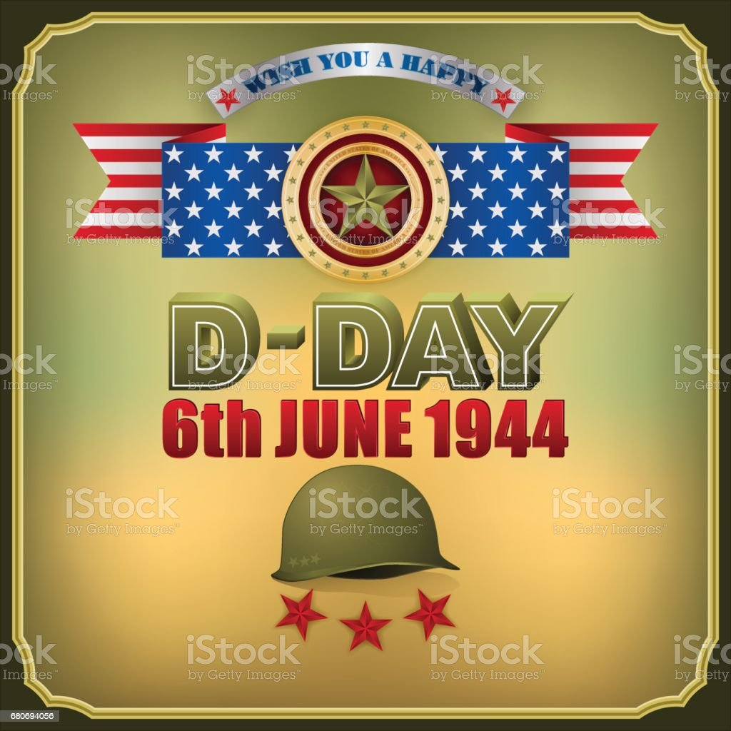 D-Day, celebration vector art illustration