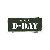 D-Day Logo Vector Template Design