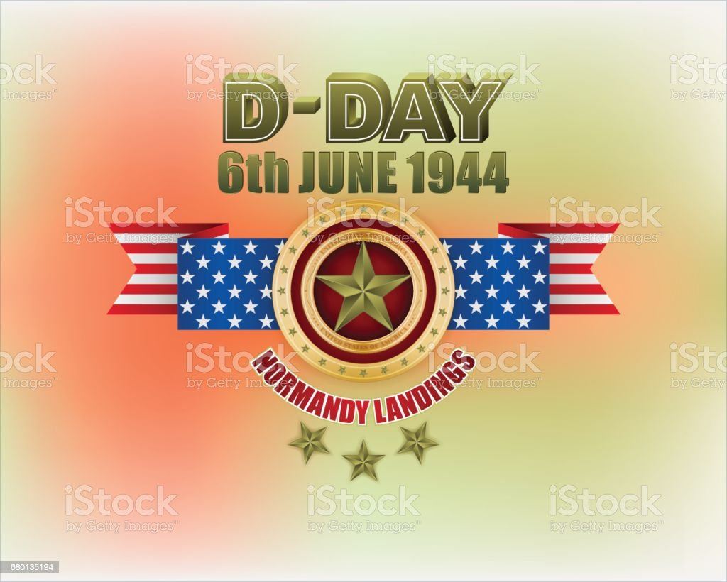 D-Day, Normandy landings vector art illustration