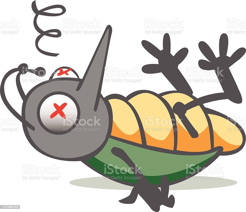 Dead Bug vector art illustration