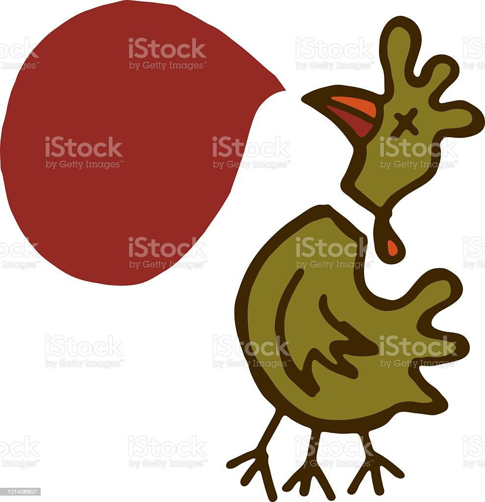 Dead chicken vector art illustration