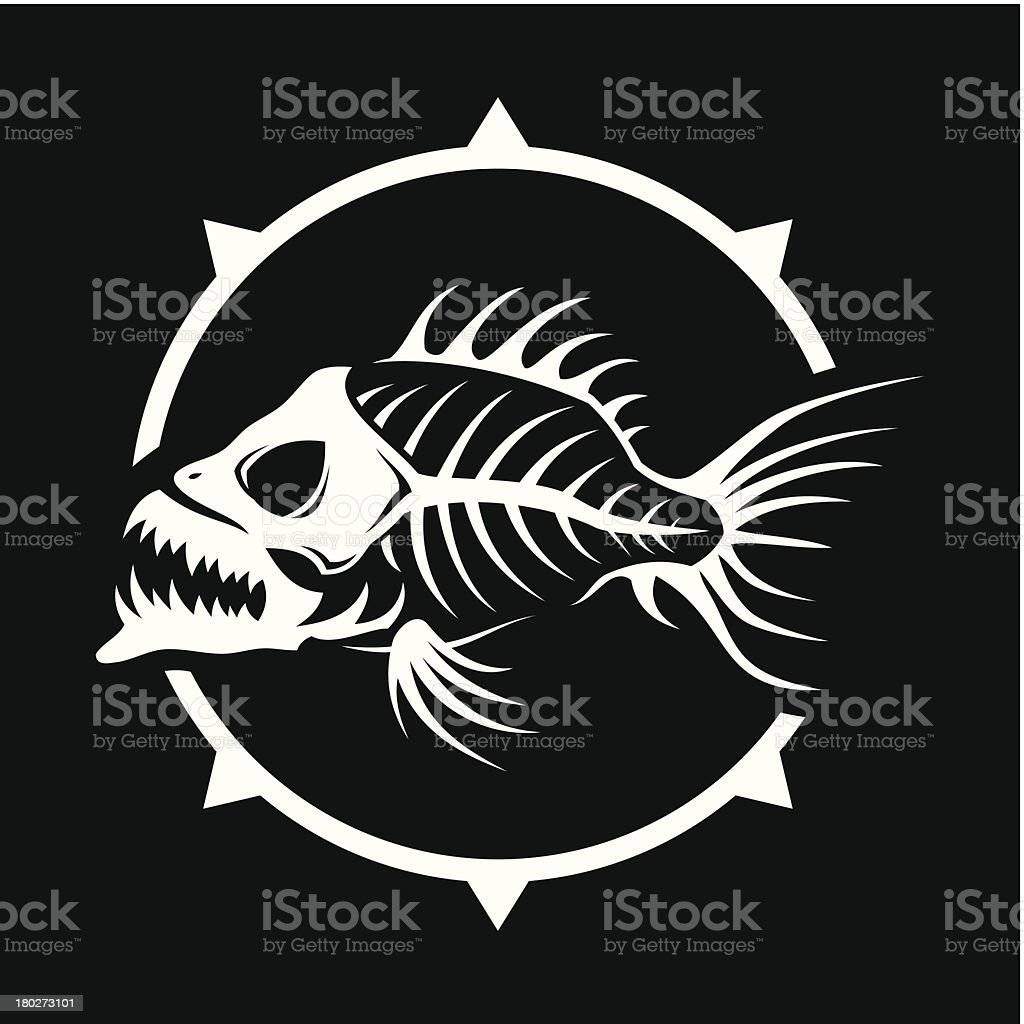Dead fish vector art illustration