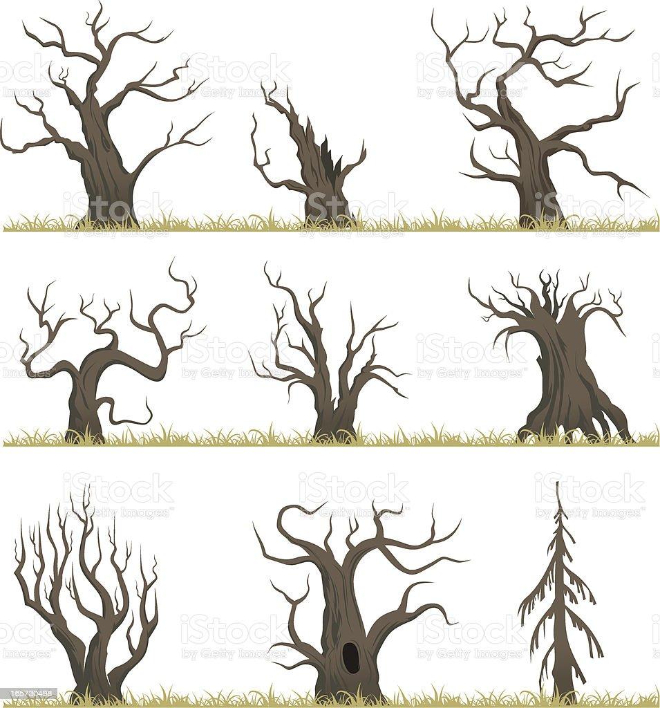 Dead forest vector art illustration