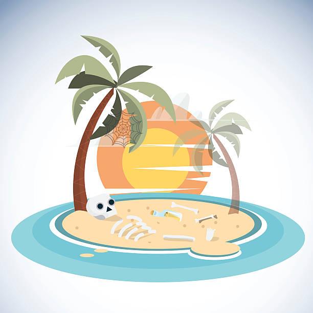 dead island-vektor-illustration - lombok stock-grafiken, -clipart, -cartoons und -symbole