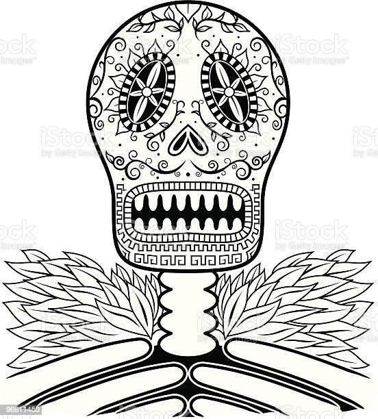 Dead Mans Calavera Two-vektorgrafik och fler bilder på Alla helgons dag