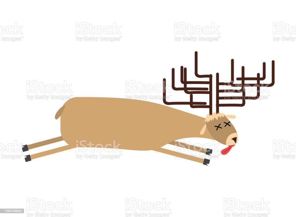 royalty free dead deer clip art vector images illustrations istock rh istockphoto com clipart of deer antlers clipart of deer in woods