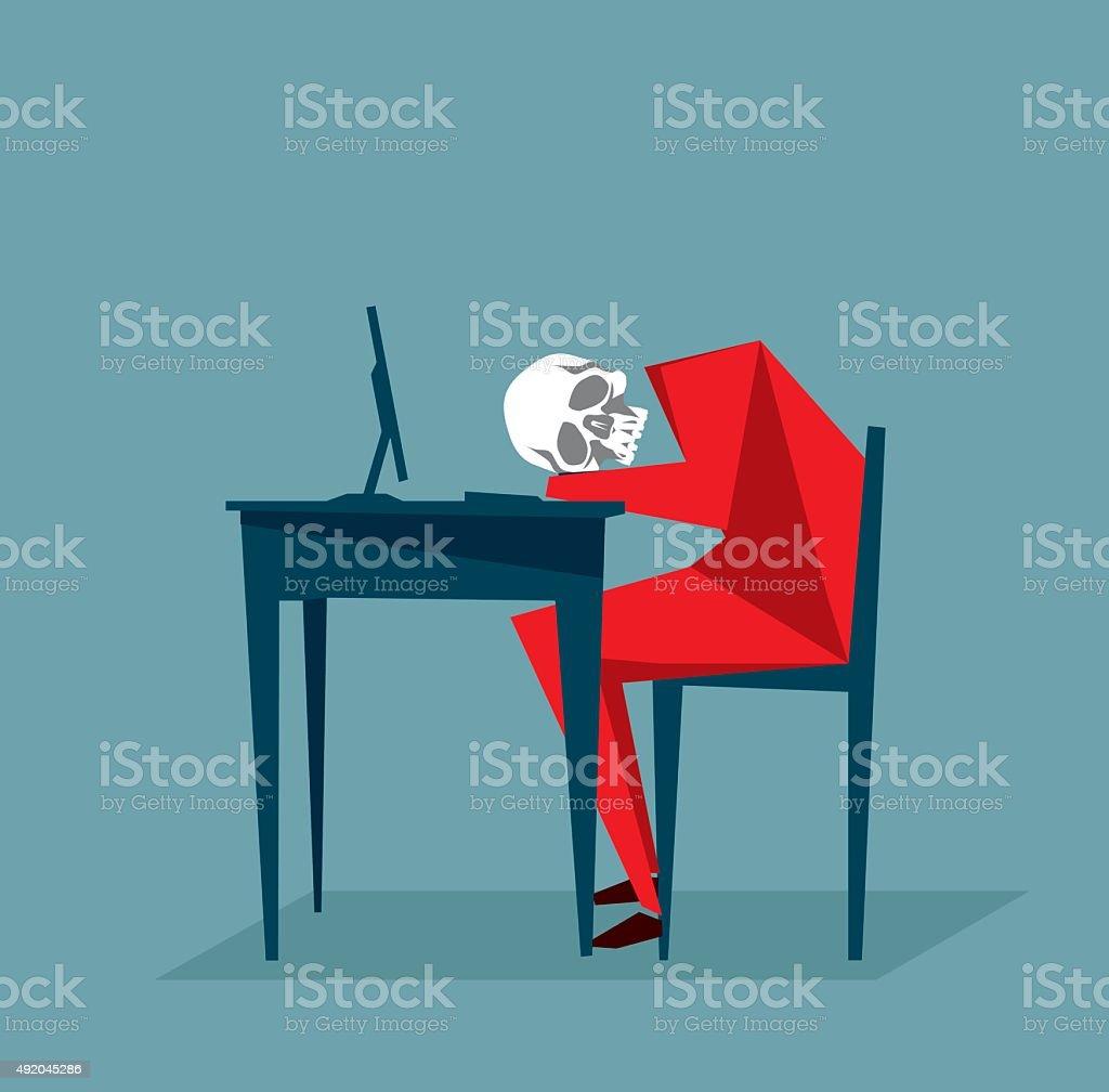 Dead Person vector art illustration