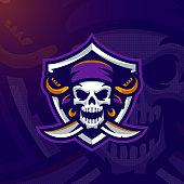 """Dead Pirate"" mascot logo. Eps10 vector."