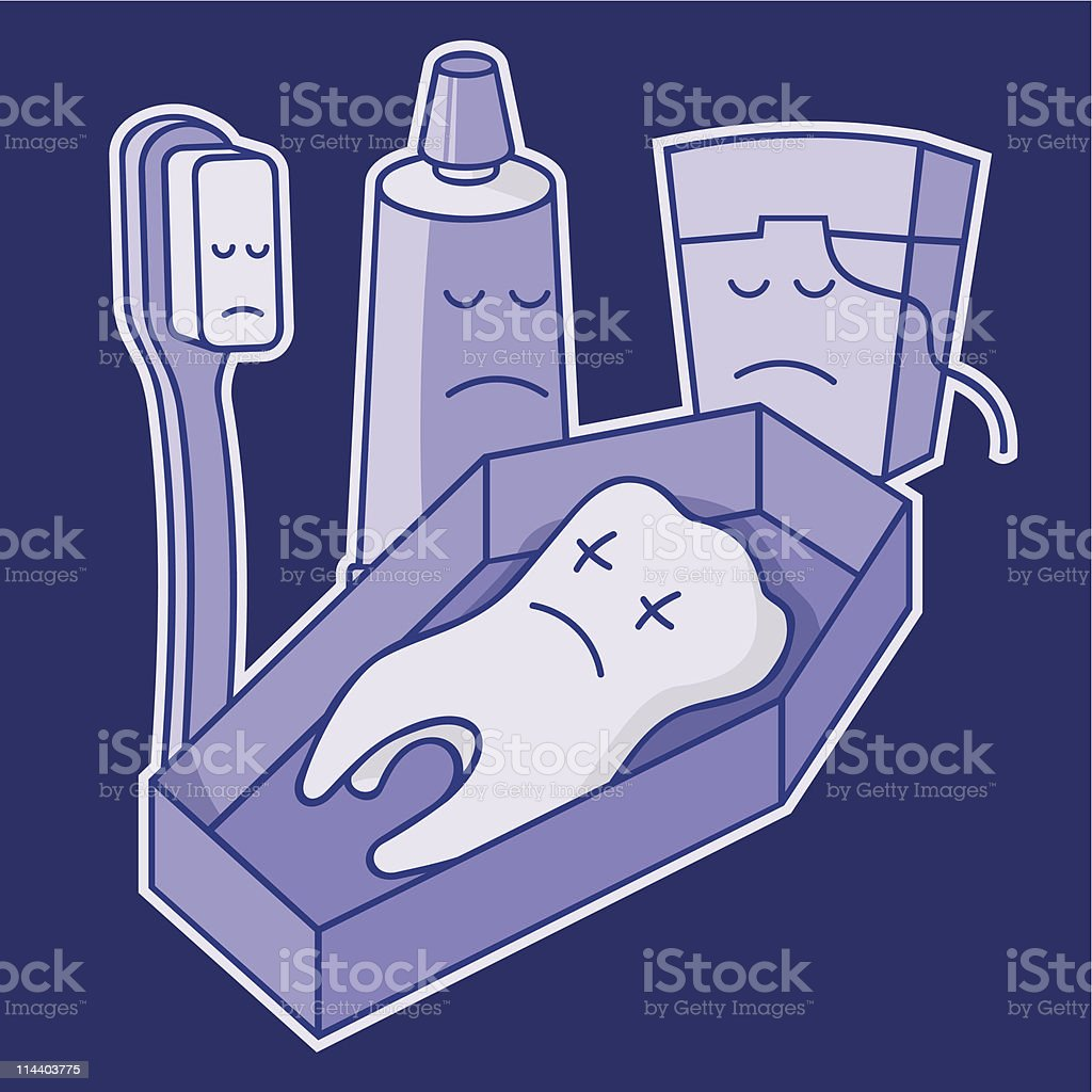 Dead tooth royalty-free stock vector art
