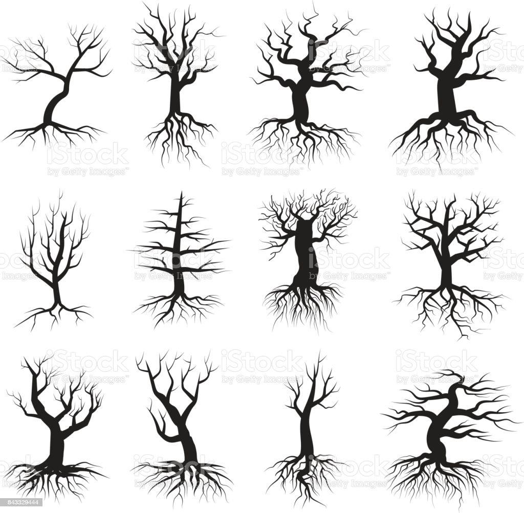 Dead tree flat style set