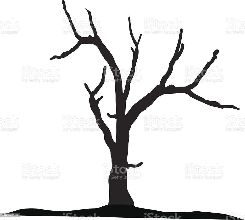 dead tree stock vector art more images of aging process 165028135 rh istockphoto com dead tree silhouette vector free Dead Tree Silhouette Vector