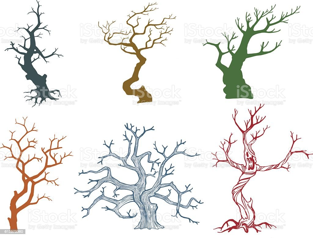 Dead tree vector illustration - ilustración de arte vectorial