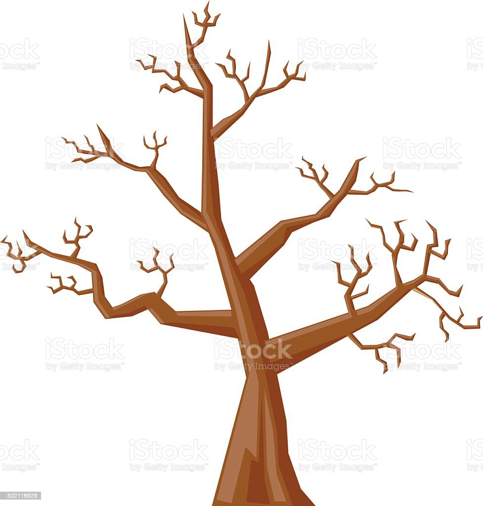 royalty free cartoon of the autumn tree without leaves clip art rh istockphoto com  clipart tree no leaves