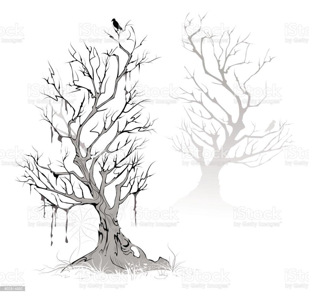 Toten Bäumen – Vektorgrafik