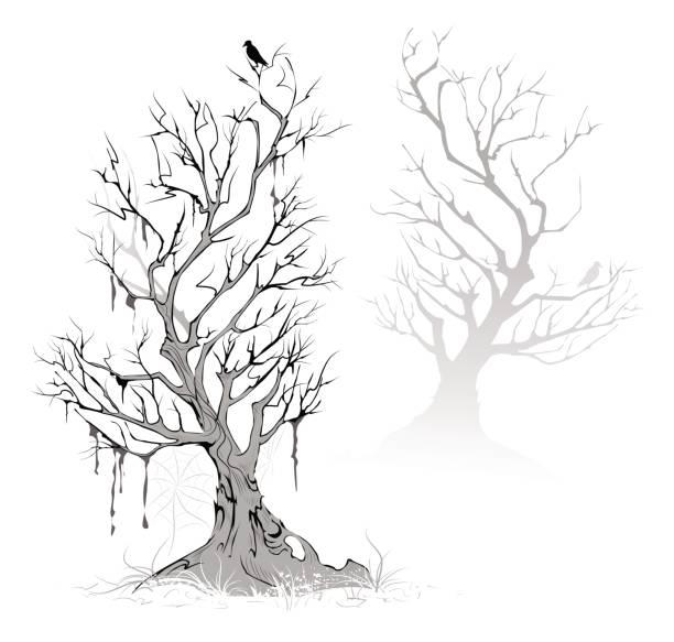 toten bäumen - stammes tattoos stock-grafiken, -clipart, -cartoons und -symbole