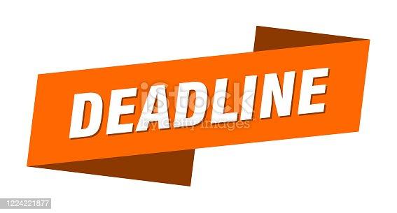 deadline banner template. deadline ribbon label sign