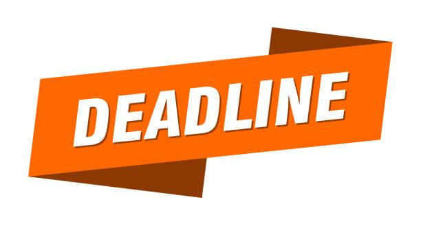 deadline banner template. deadline ribbon label sign vector art illustration