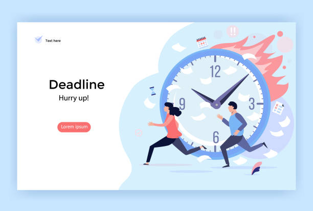 Deadline concept illustration. Deadline concept illustration, perfect for web design, banner, mobile app, landing page, vector flat design mental burnout stock illustrations