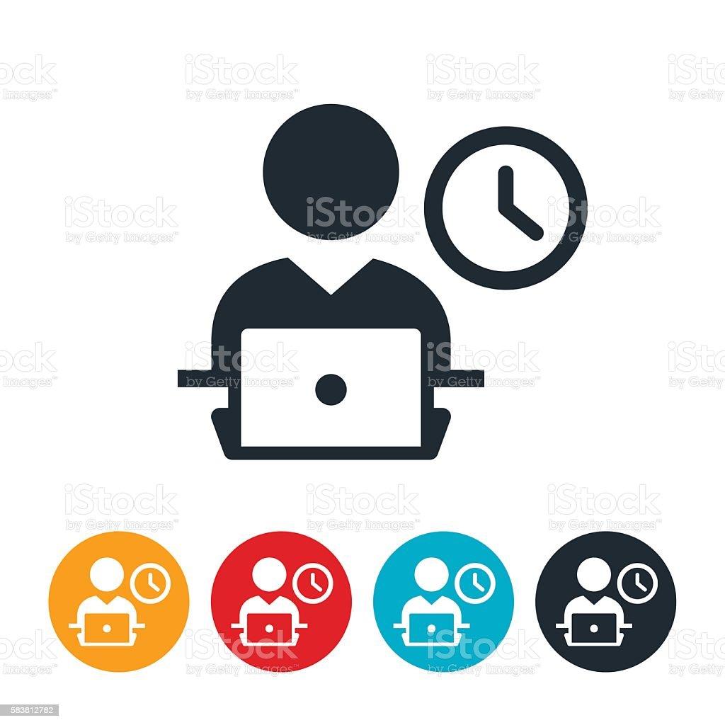 Deadline Icon vector art illustration