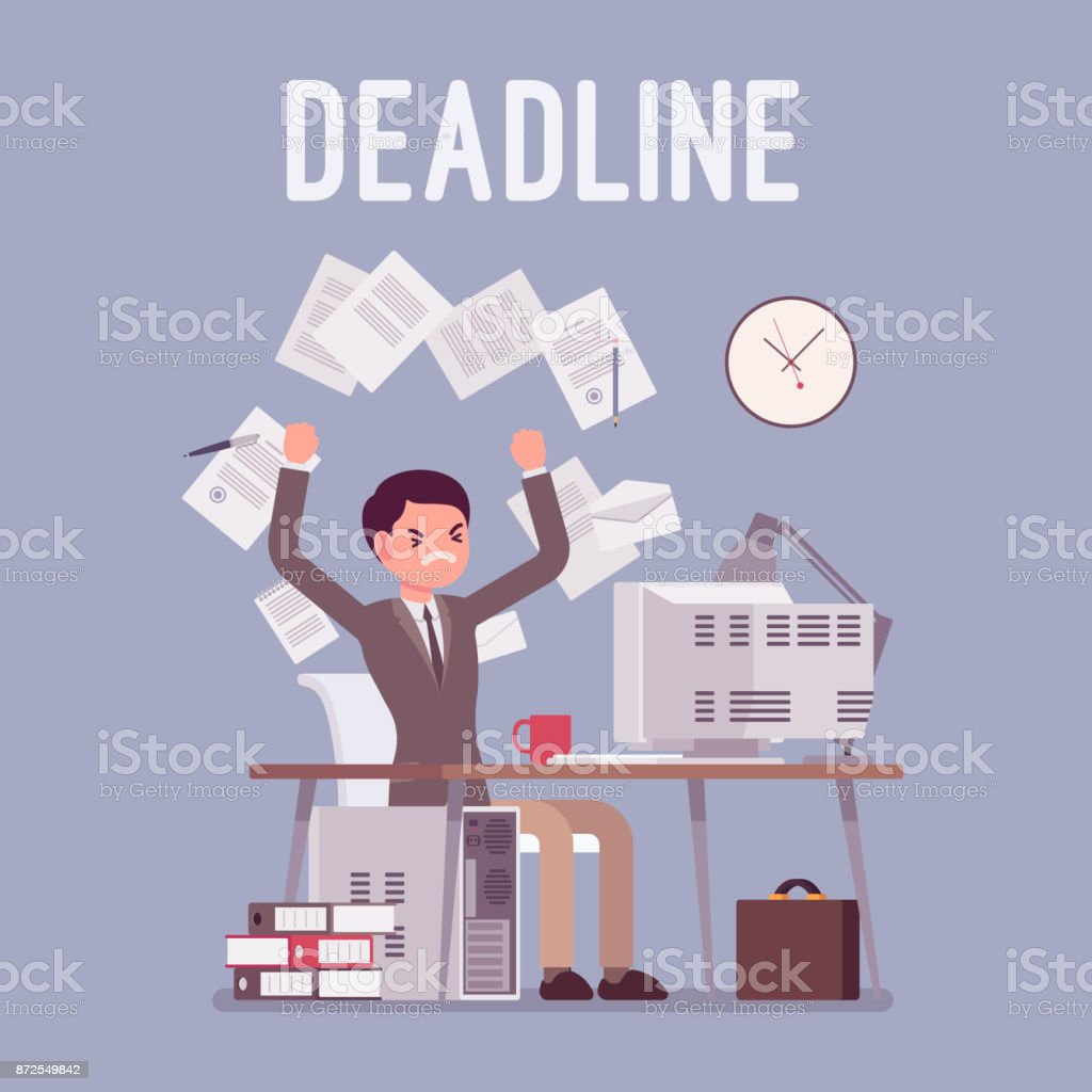 Deadline in paper work royalty-free deadline in paper work stock vector art & more images of adult