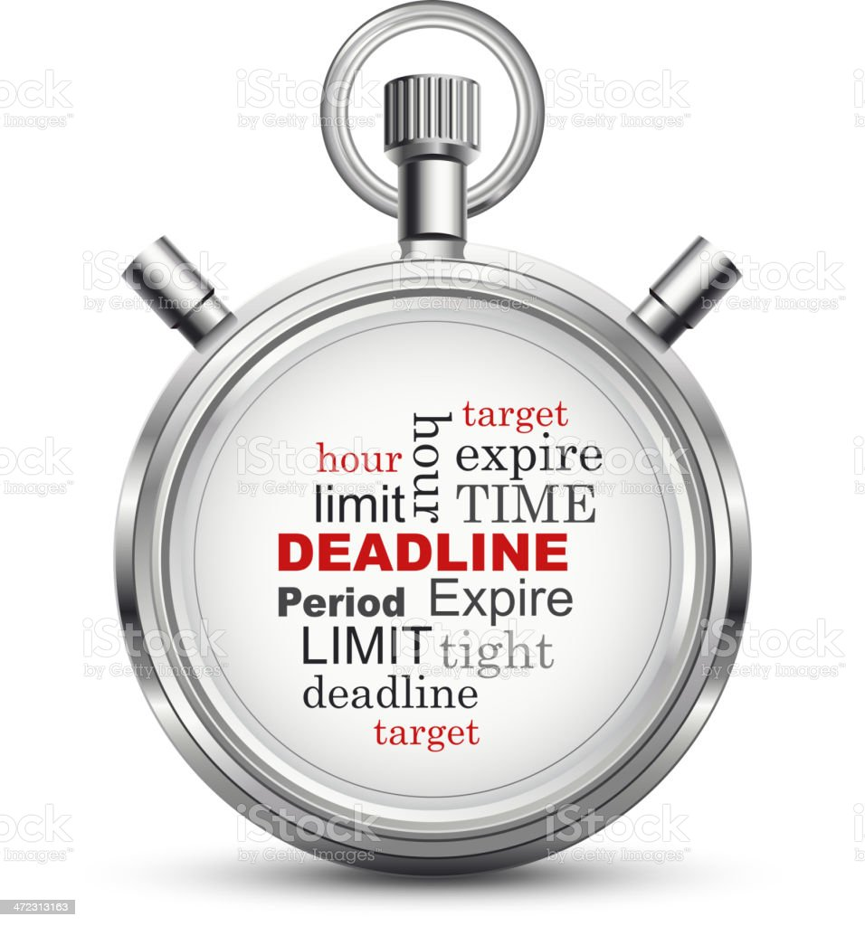 Deadline Stopwatch concept vector art illustration