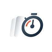Deadline timer, fast time motion, quick delivery period, stopwatch timeout, training session