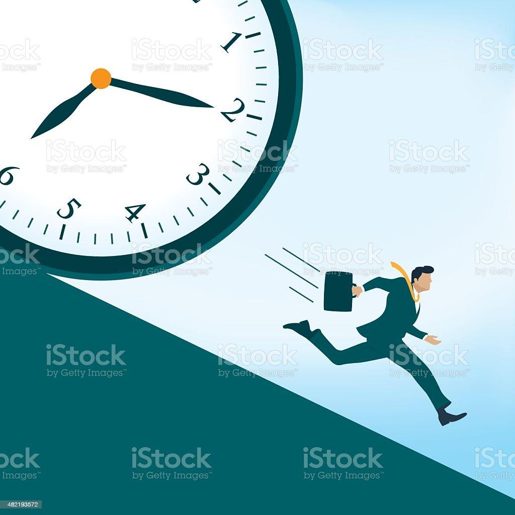 Deadline vector art illustration