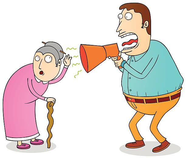 deaf grandma - old man crying clip art stock illustrations, clip art, cartoons, & icons