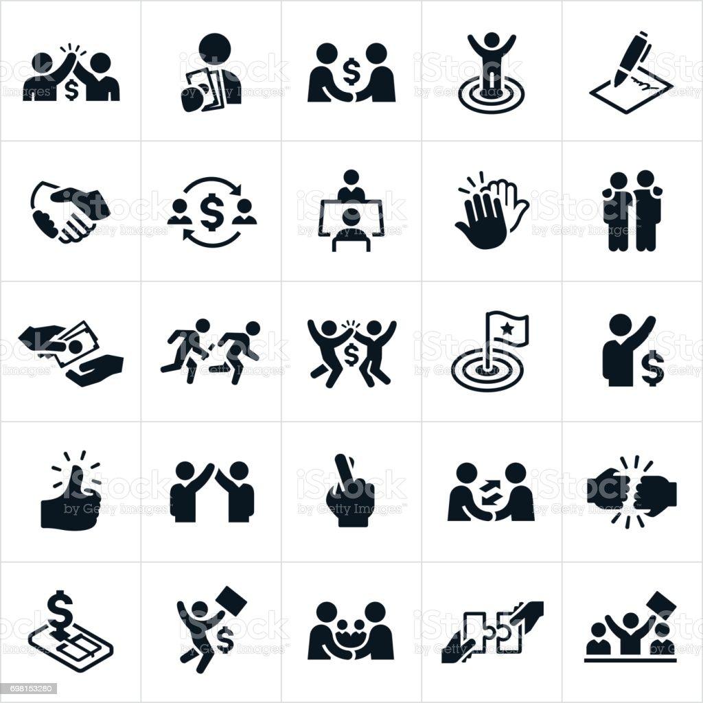Tratar de hacer los iconos - ilustración de arte vectorial