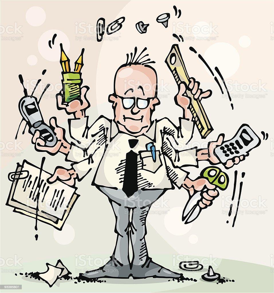 Dealer-Broker-Manager royalty-free stock vector art