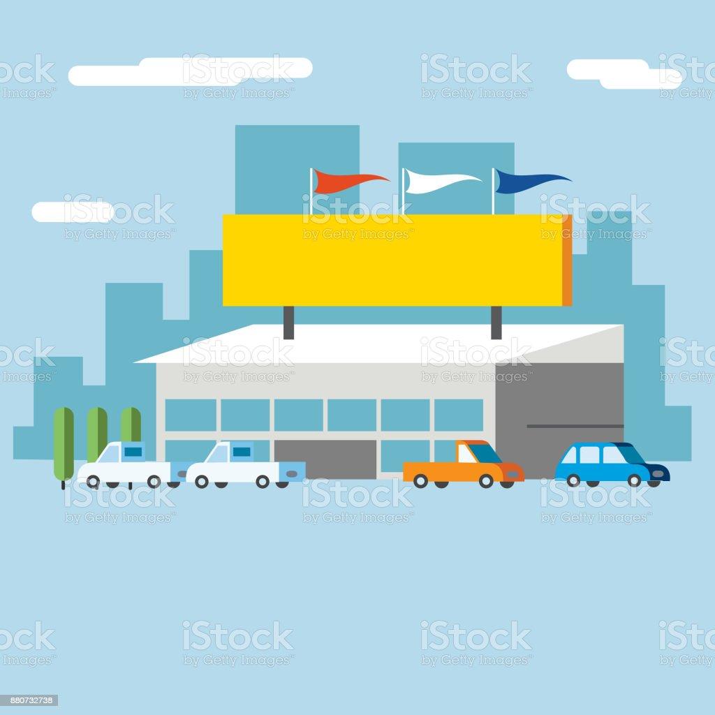 Dealership vector art illustration