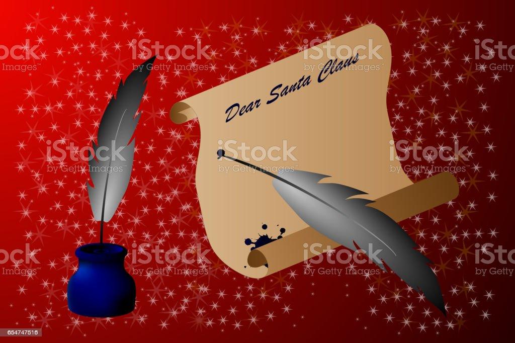 Dear Santa Claus, vector art illustration