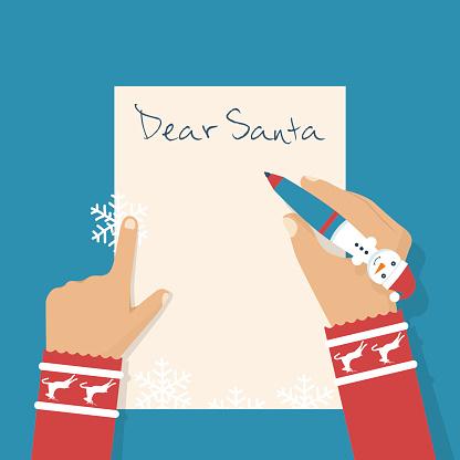 Dear Santa letter. clipart
