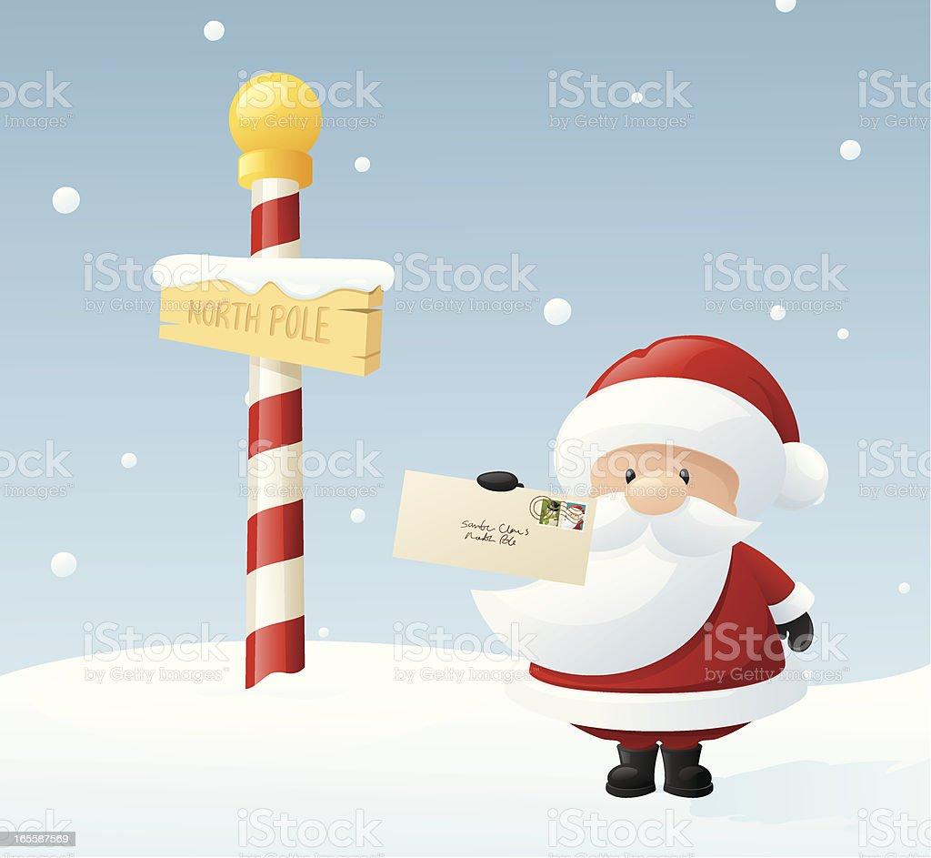 Dear Santa vector art illustration