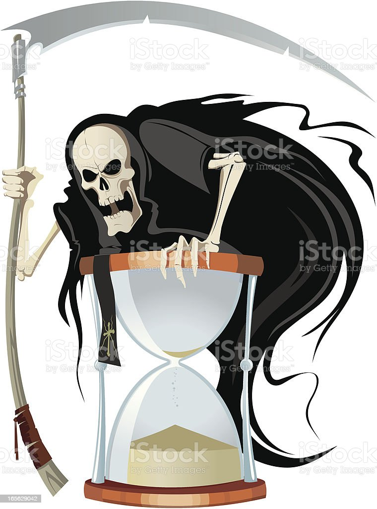 Death and sand-glass royalty-free death and sandglass stock vector art & more images of accidents and disasters