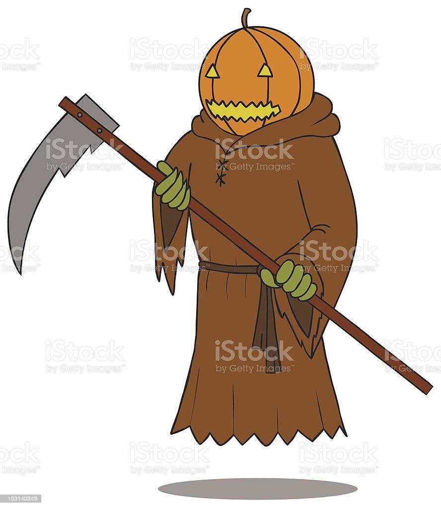 Death Angel Pumpkin royalty-free stock vector art
