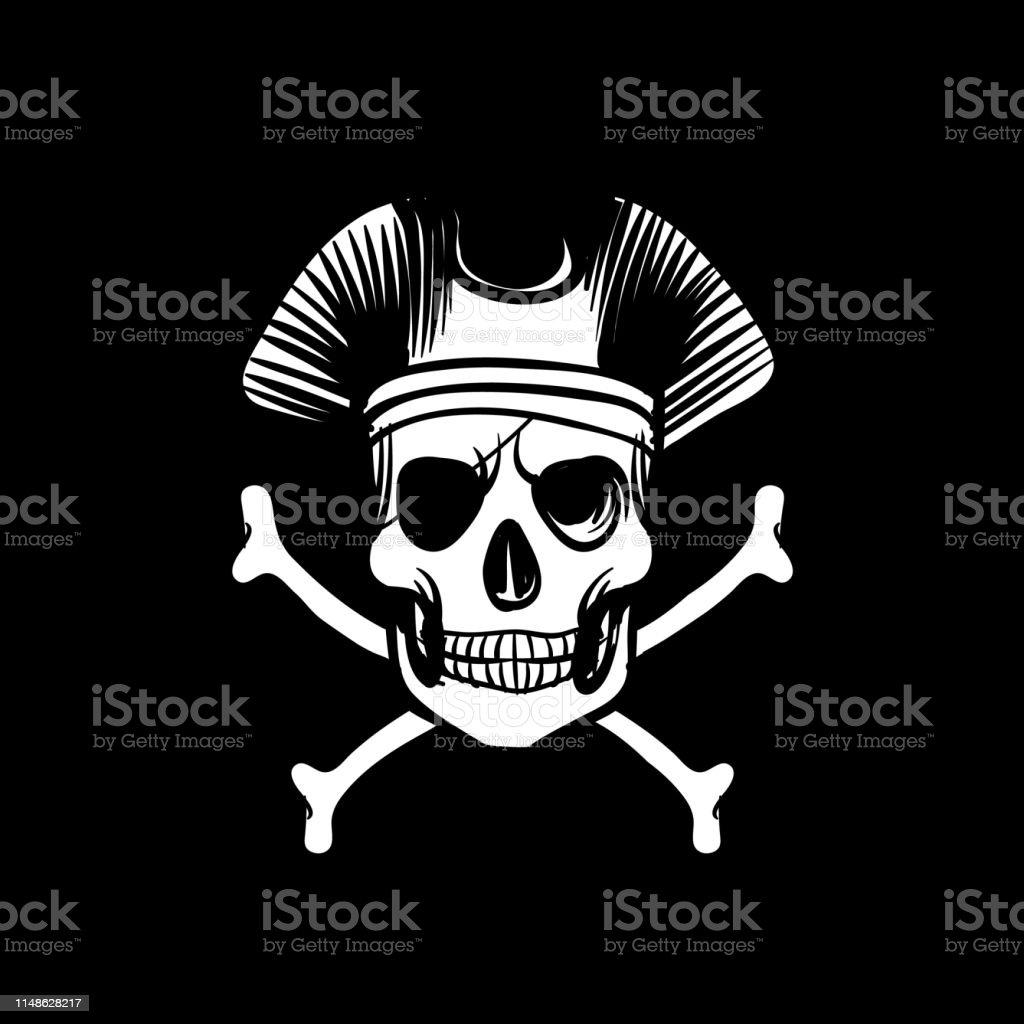 死の旗レトロな壁紙ヴィンテージの島々は骨と頭蓋骨の冒険ベクトルの