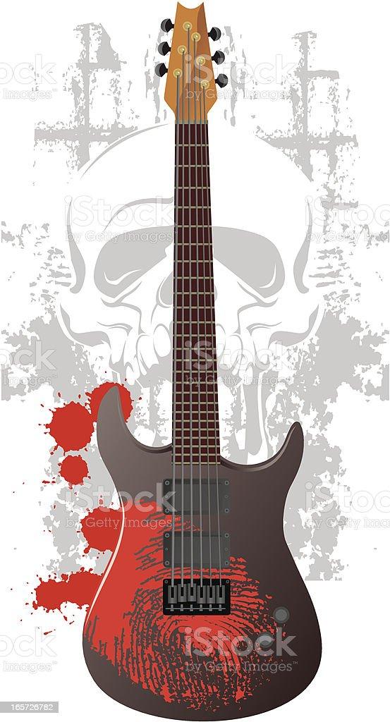 Death Metal Guitar royalty-free stock vector art