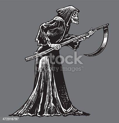 Death or Grim Reaper - Skeleton with Sickle