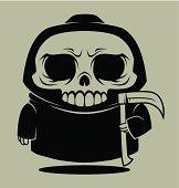 Death with a scythe (cartoon style).