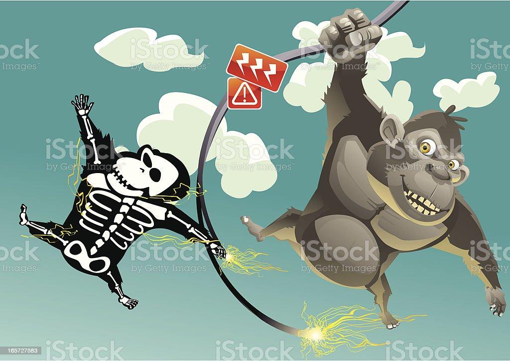 Deathly Swing vector art illustration