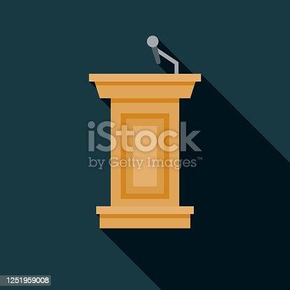 istock Debate Podium US Election Icon 1251959008