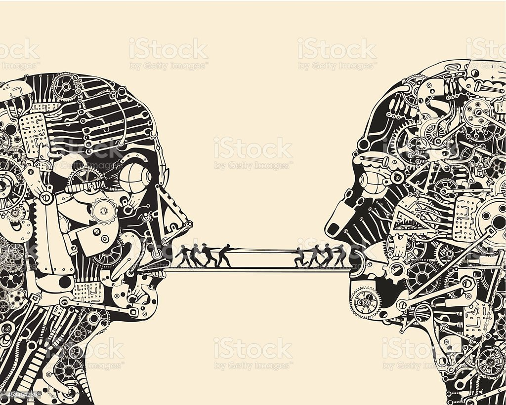 Debate. The science of communication. royalty-free stock vector art