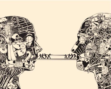 Debate. The science of communication. Rope pulling.